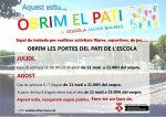 S'obre el pati de l'Escola Jaume Balmes