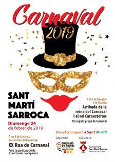 cartell carnaval Sant Martí Sarroca 2019